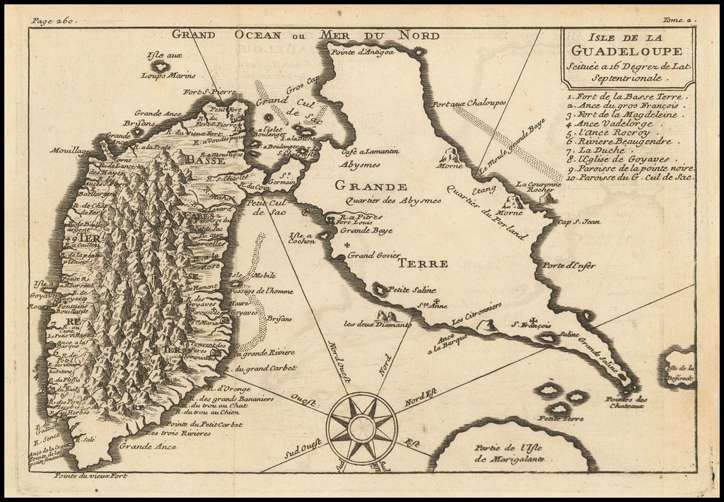 Isle de la Guadaloupe . . .  By Nicolas de Fer