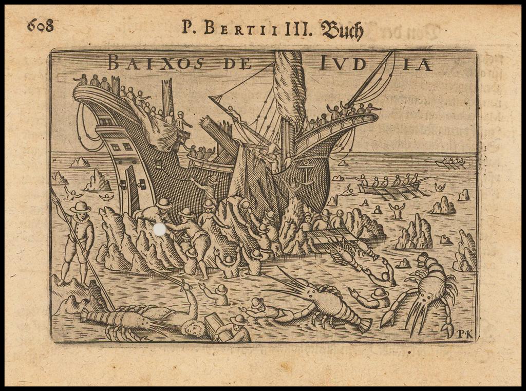 Baixos De Iudia (Shipwreck between Mozambique and Madagascar)  By Barent Langenes