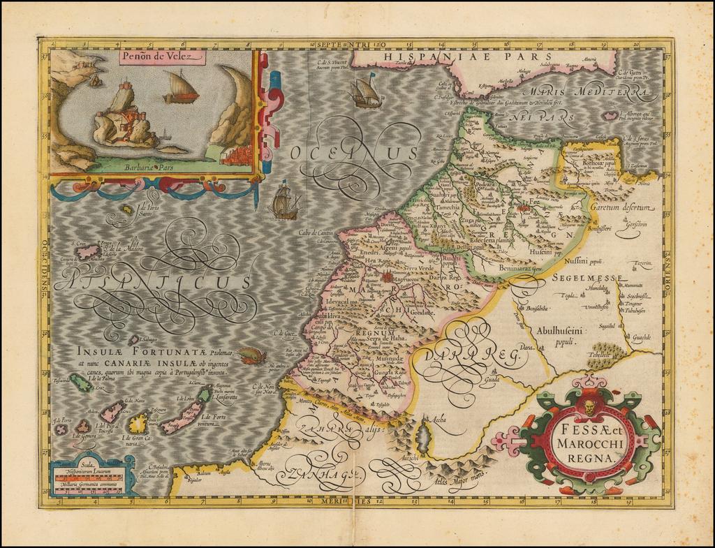 Fessae et Marocchi Regna By Jodocus Hondius