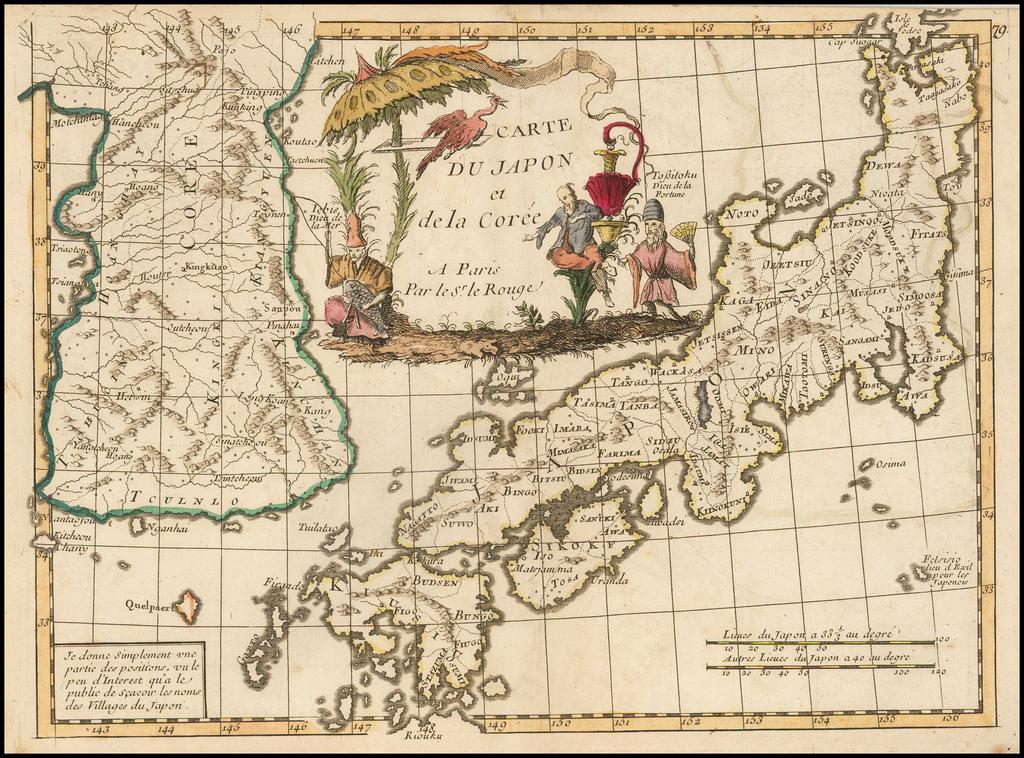 Carte Du Japon et de la Coree . . . By George Louis Le Rouge