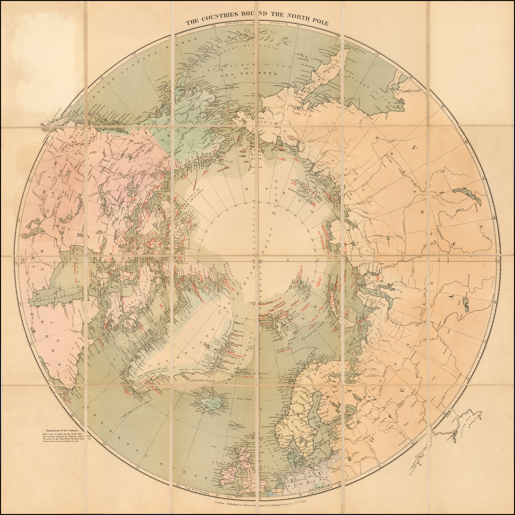 The Countries Round the North Pole By Edward Stanford