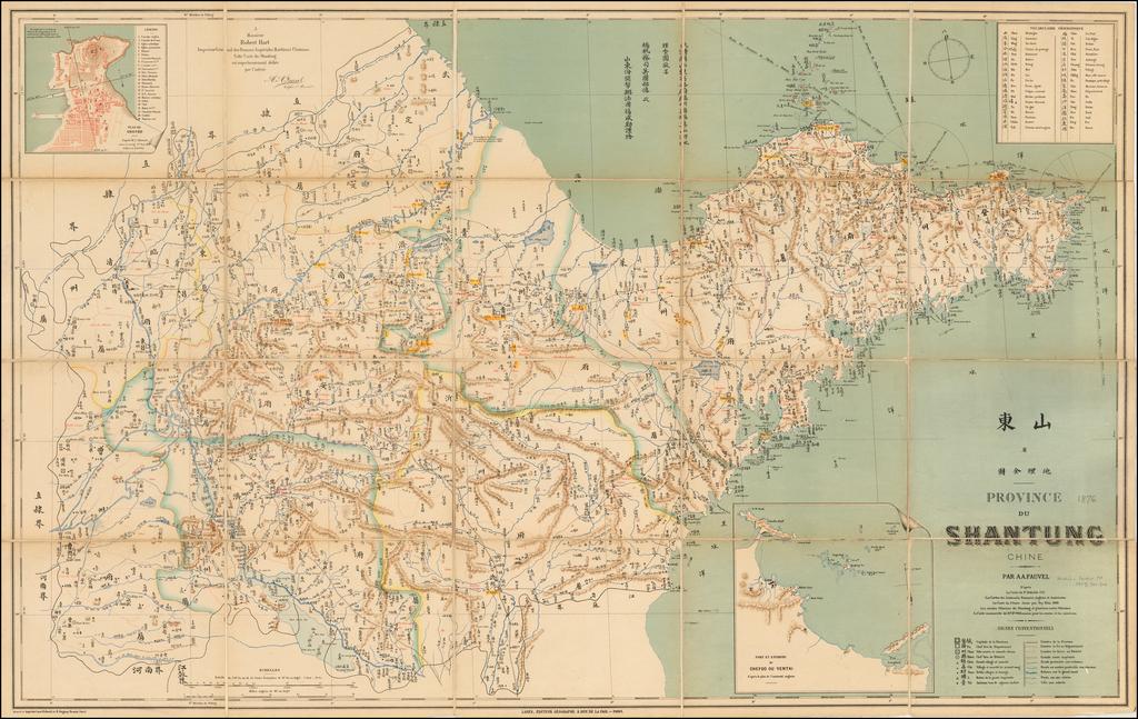 Province du Shantung Chine.  Par A.A. Fauvell . . .   By Albert August Fauvel