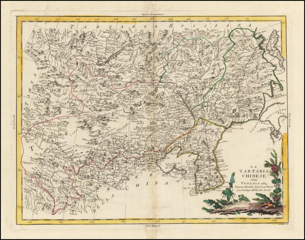 La Tartaria Chinese . . . 1784  [show Corea] By Antonio Zatta