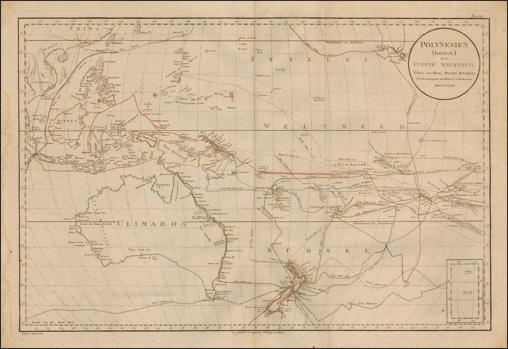 Polynesien (Inselwelt) oder der Funfte Welttheil Versasst von Herrn Daniel Djurberg . . MDCCLXXXIX By Daniel Djurberg / Franz Anton Schraembl
