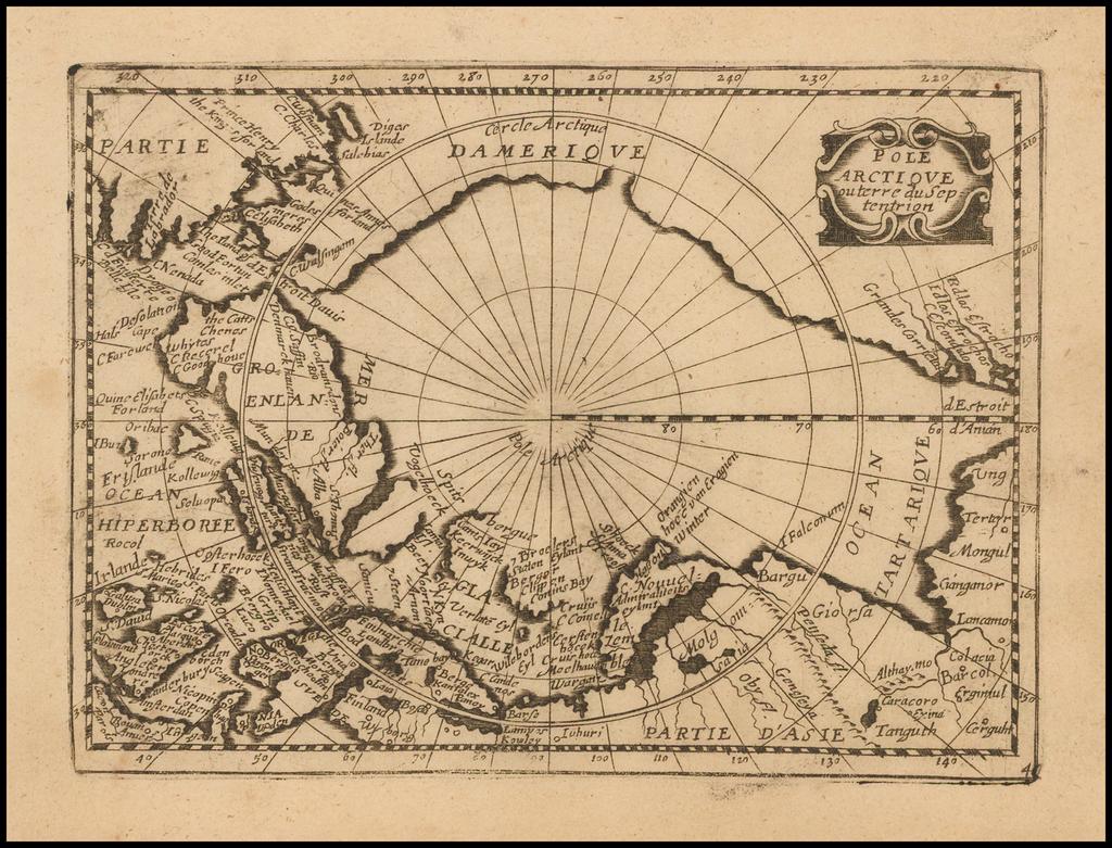 le Pole Arctique ou Terre du Septentrion By Gerard Jollain