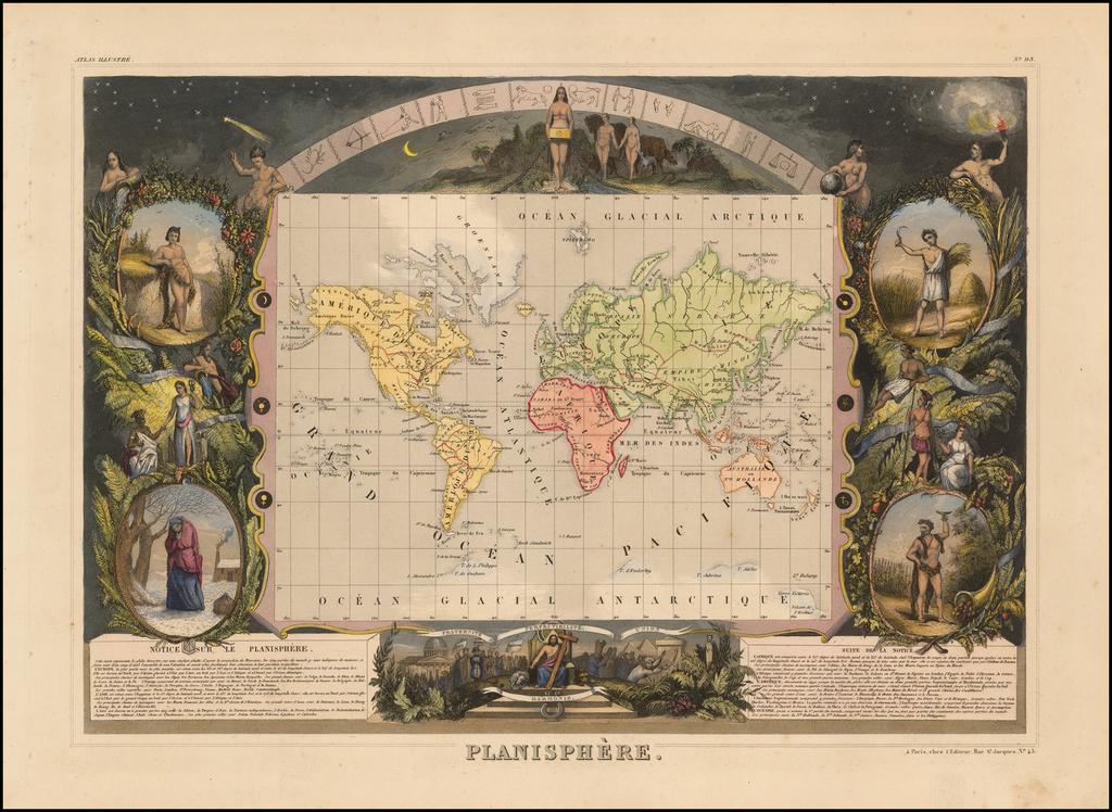 Planisphere By Victor Levasseur