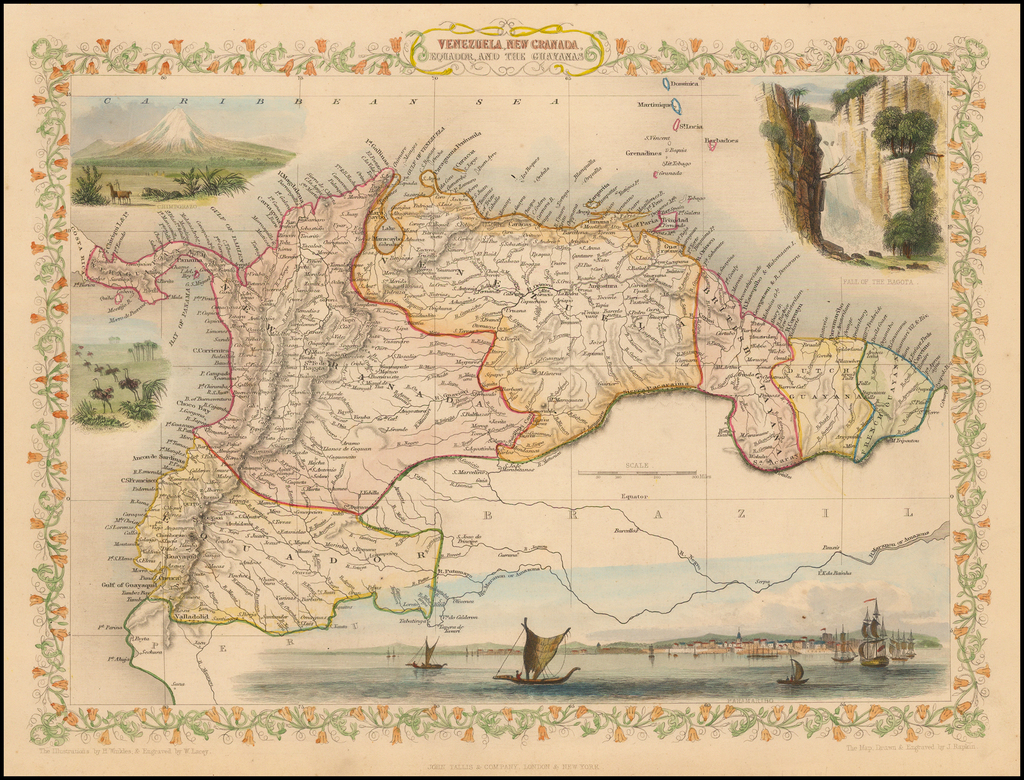 Venezuela, New Granada, Equador, and the Guayanas By John Tallis