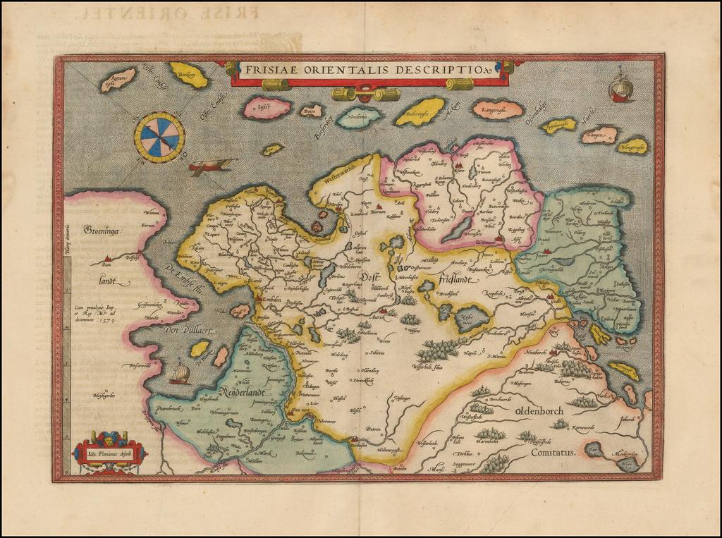 Frisiae Orientalis Descriptio By Abraham Ortelius