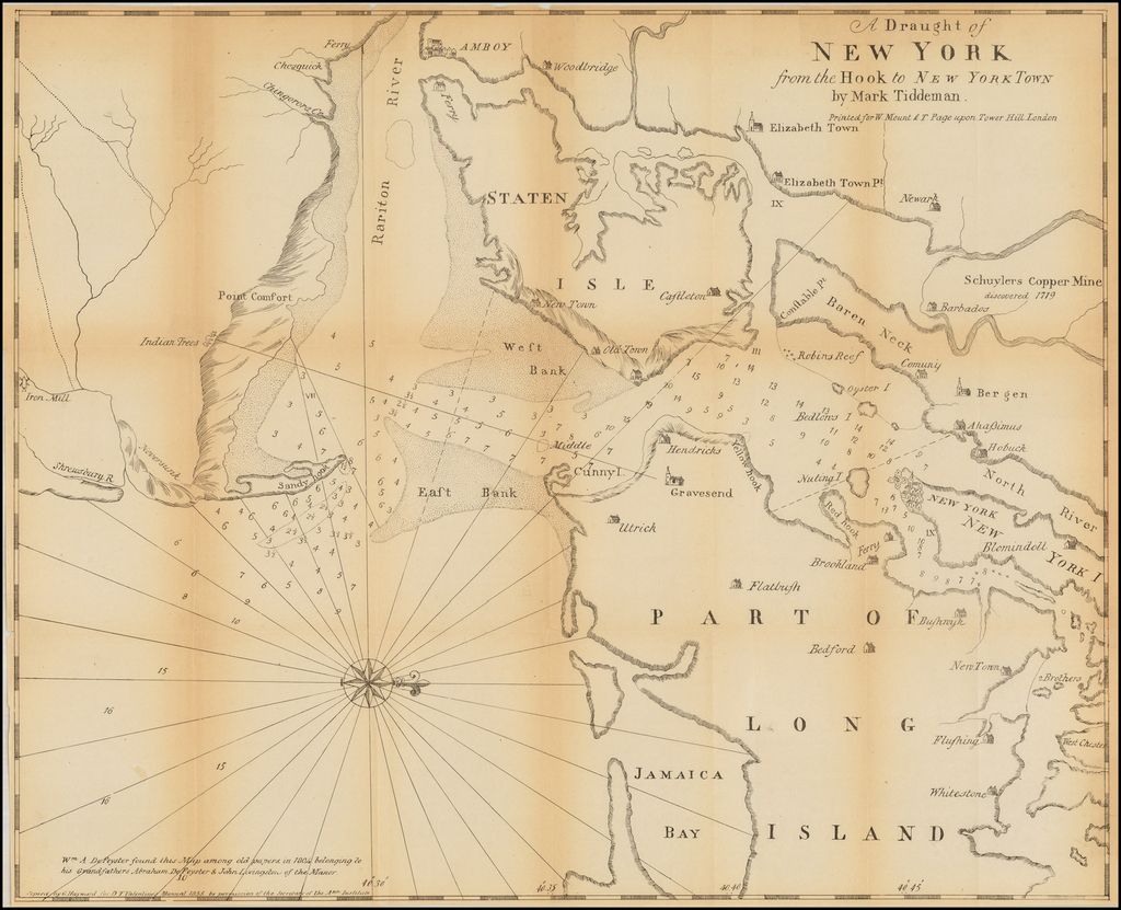 A Draught of New York from the Hook to New York Town By Valentine's Manual
