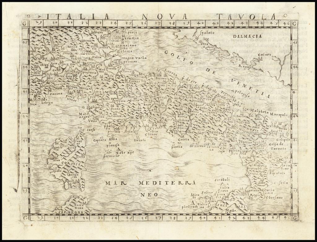 Italia Nova Tavola By Giacomo Gastaldi