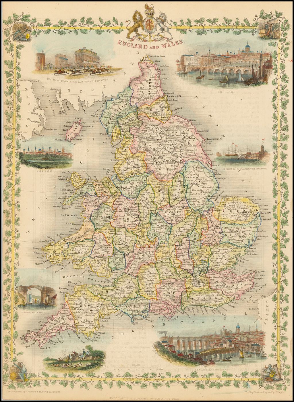 England and Wales By John Tallis
