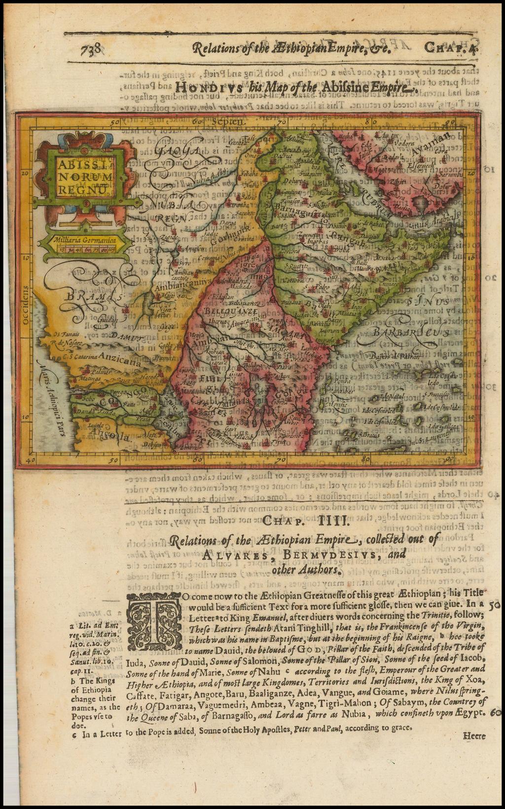 Abissinorum Regnu By Jodocus Hondius / Samuel Purchas