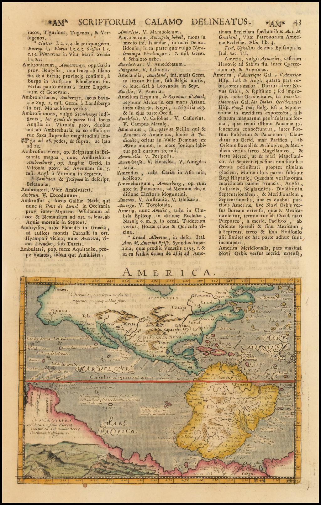 America By Giovanni Antonio Magini