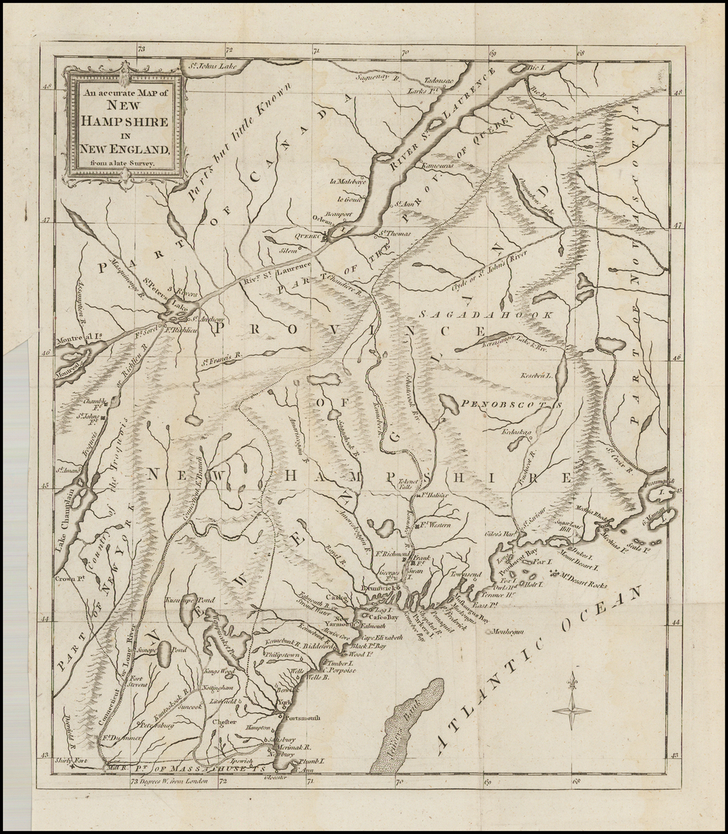 An Accurate Map of New Hampshire in New England from a late Survey By Universal Magazine