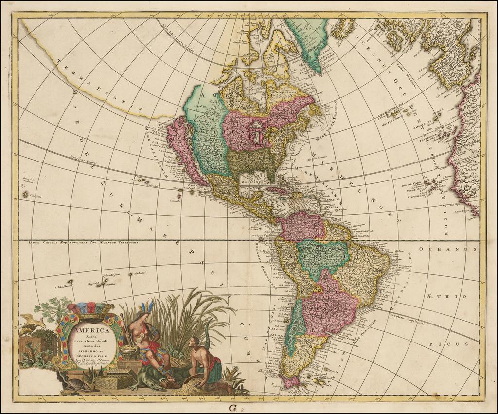 America Aurea Pars Altera Mundi Auctoribus Gerardo et Leonardo Valk  (California as an Island) By Gerard & Leonard Valk