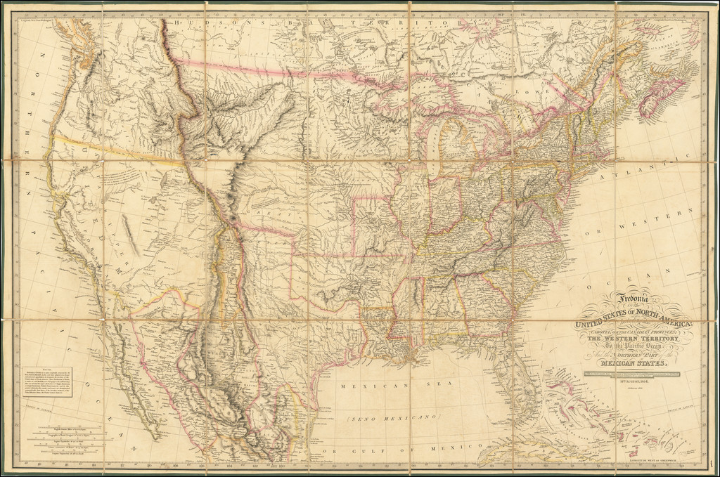 Fredonia Or The United States of North America; Including also Cabotia, or the Canadian Provinces; The Western Territory To the Pacific Ocean And the Northern Part of the Mexican States . . . 14th August, 1834.  Additions to 1836 By Richard Holmes Laurie