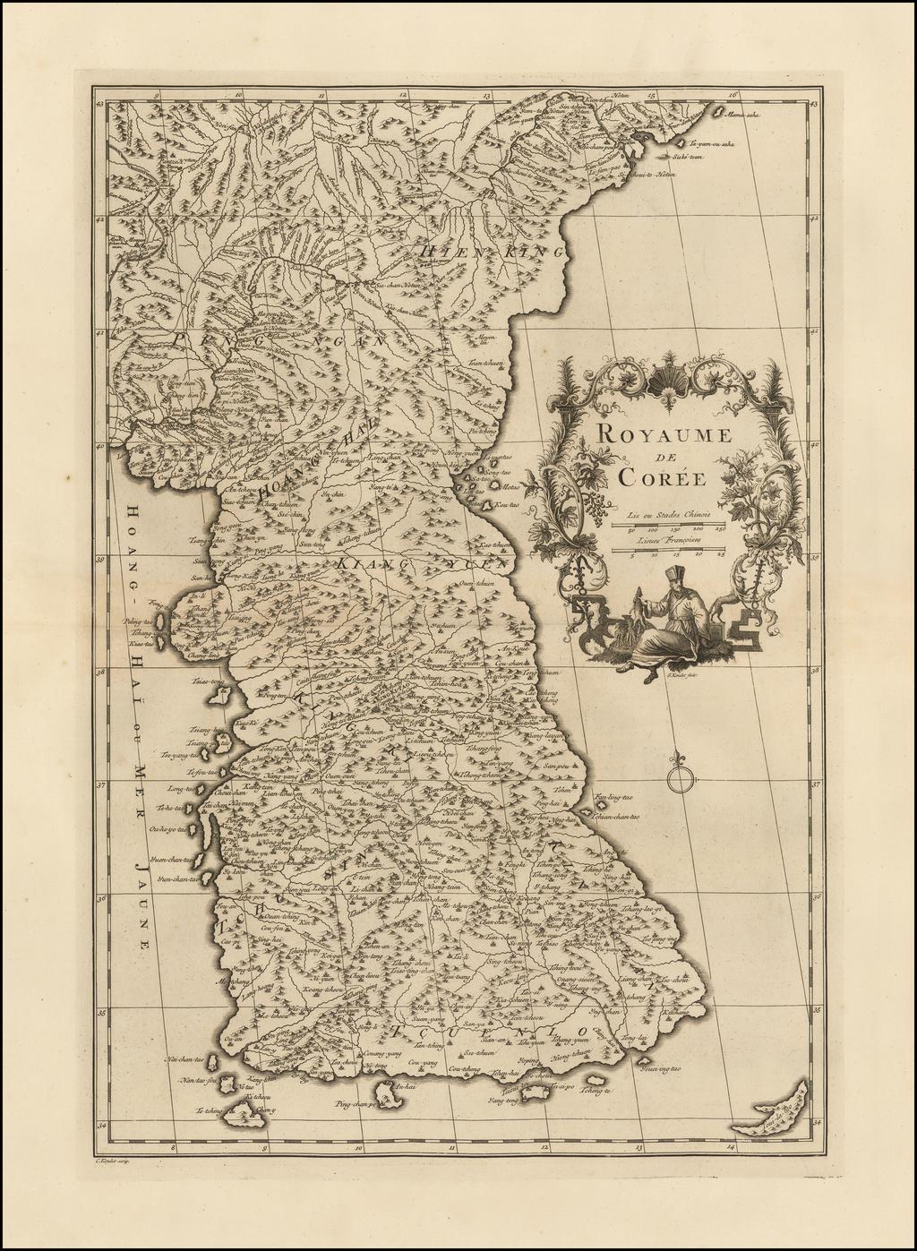 Royaume De Coree By Jean-Baptiste Bourguignon d'Anville