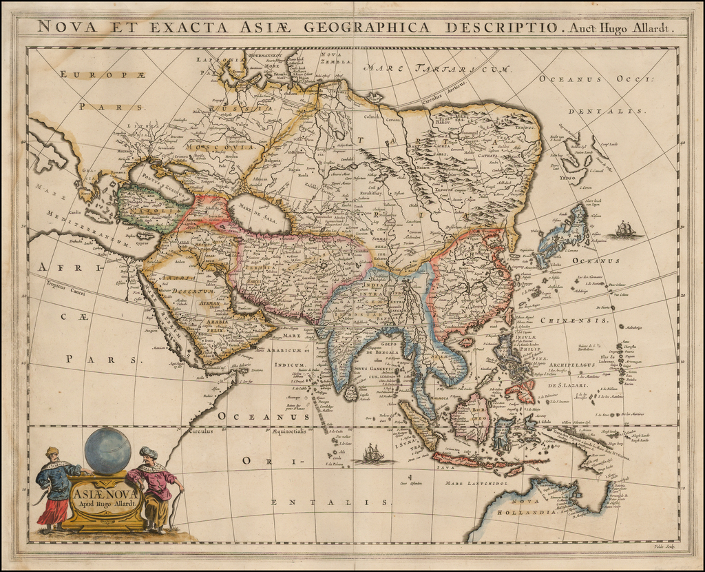 Nova et Exacta Asiae Geographica Descriptio Auct Hugo Allardt. By Hugo Allard