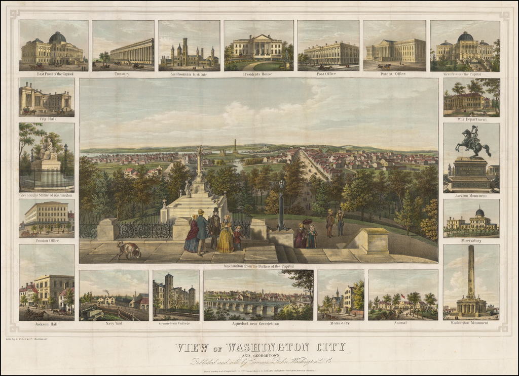 View of Washington City and Georgetown  By Casimir Bohn