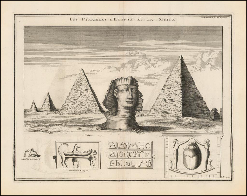 Les Pyramides d'Egypte et la Sphinx By Bernard de Montfaucon