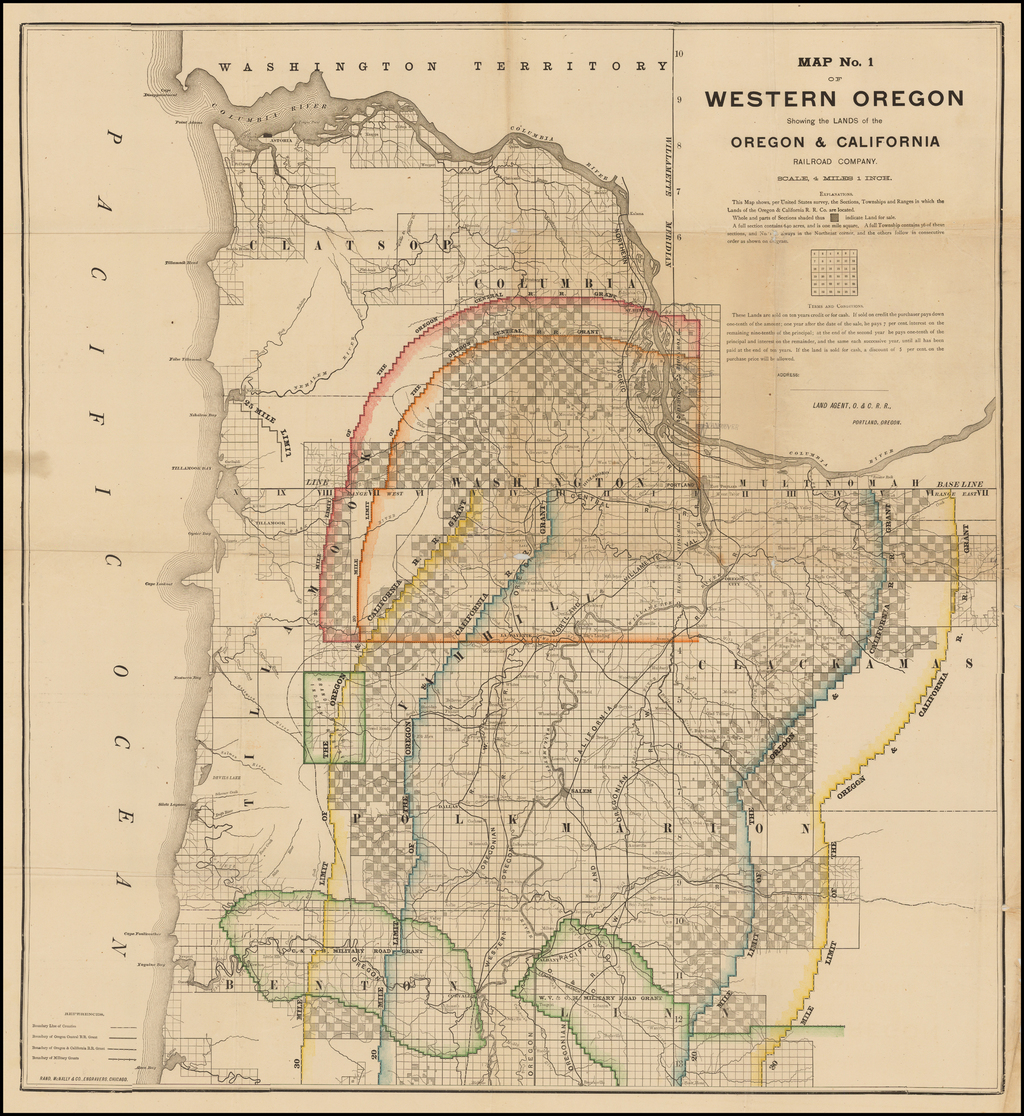 Map No. 1 of Western Oregon Showing the Lands of the Oregon ...