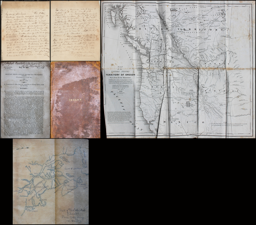 Oregon Question Letter, Annotated Pamphlet, Sketch Map, &c. By Sir James Edward Alexander