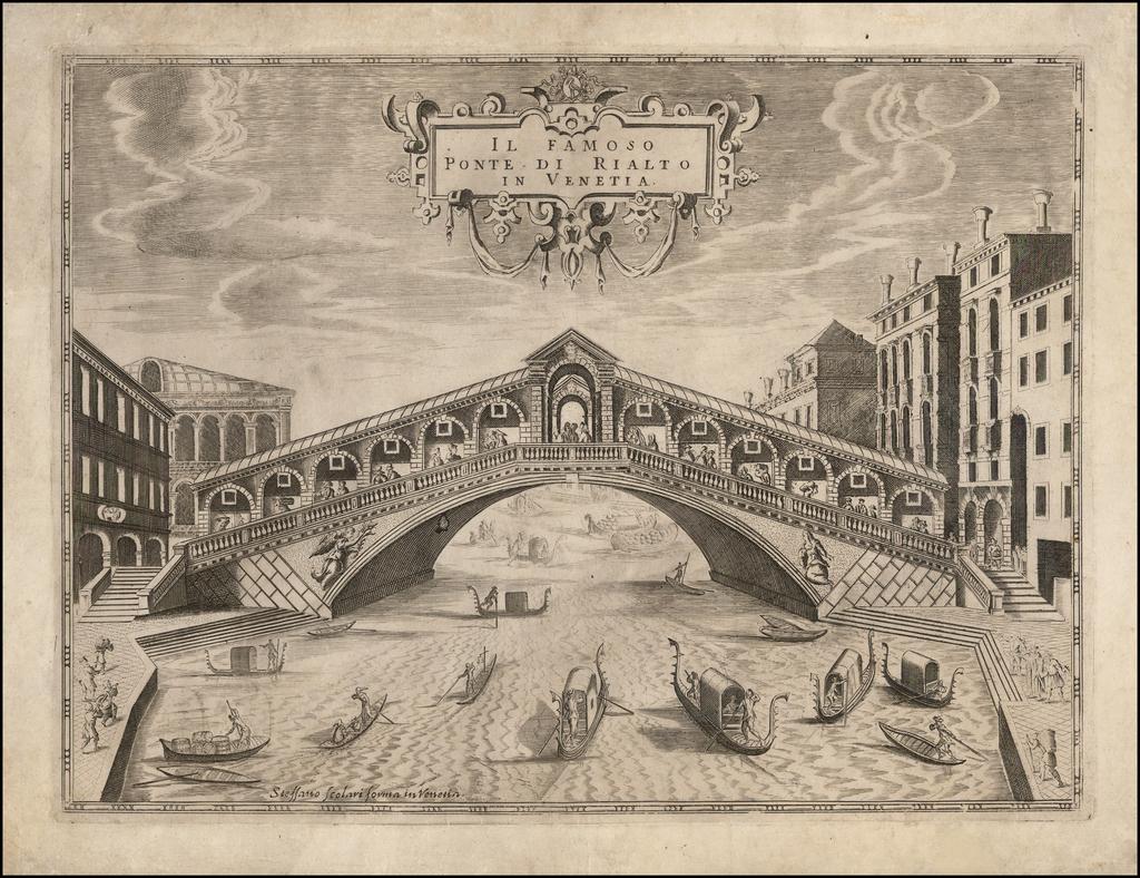 Il Famosa Ponte di Rialto in Venetia By Stefano Scolari