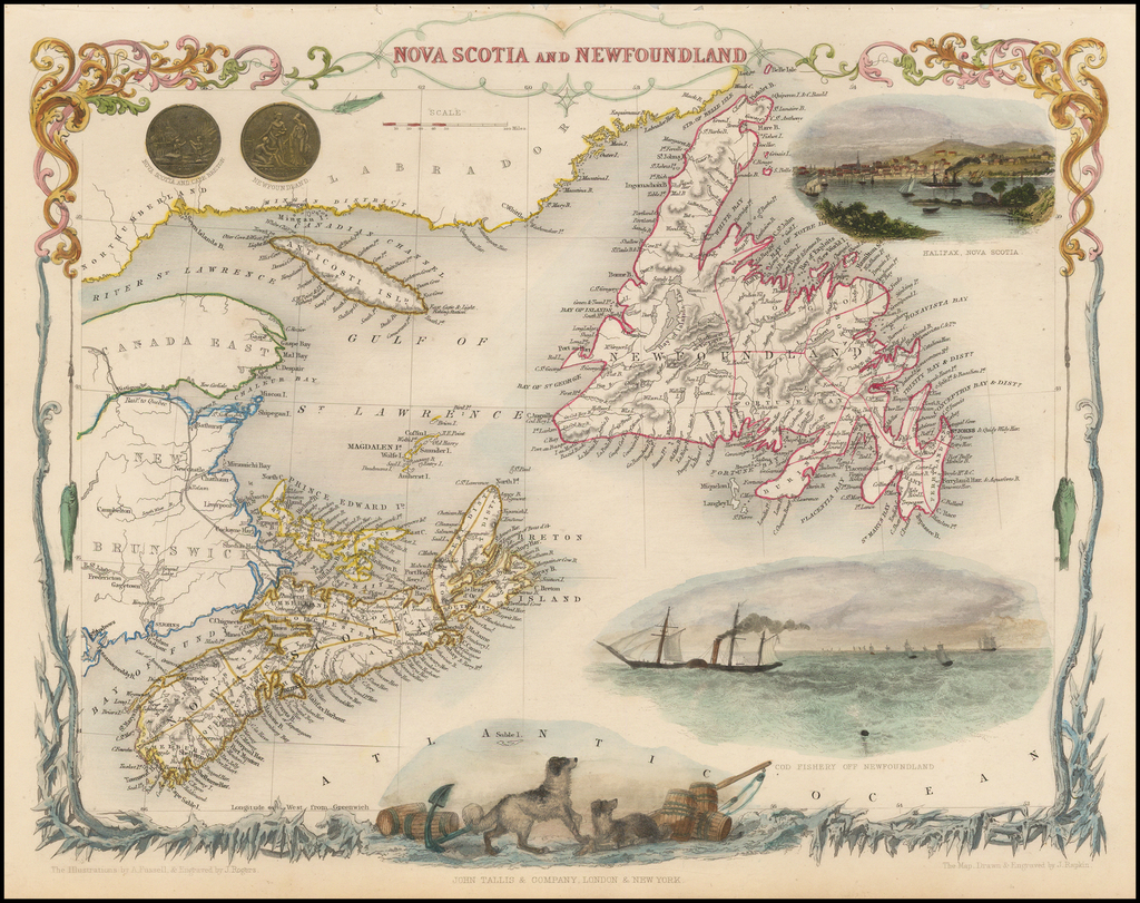 Nova Scotia and Newfoundland By John Tallis