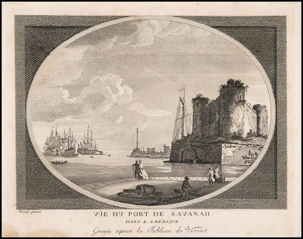 Vue du Port de Savanah dans L'Amerique . . .  By Claude Joseph Vernet