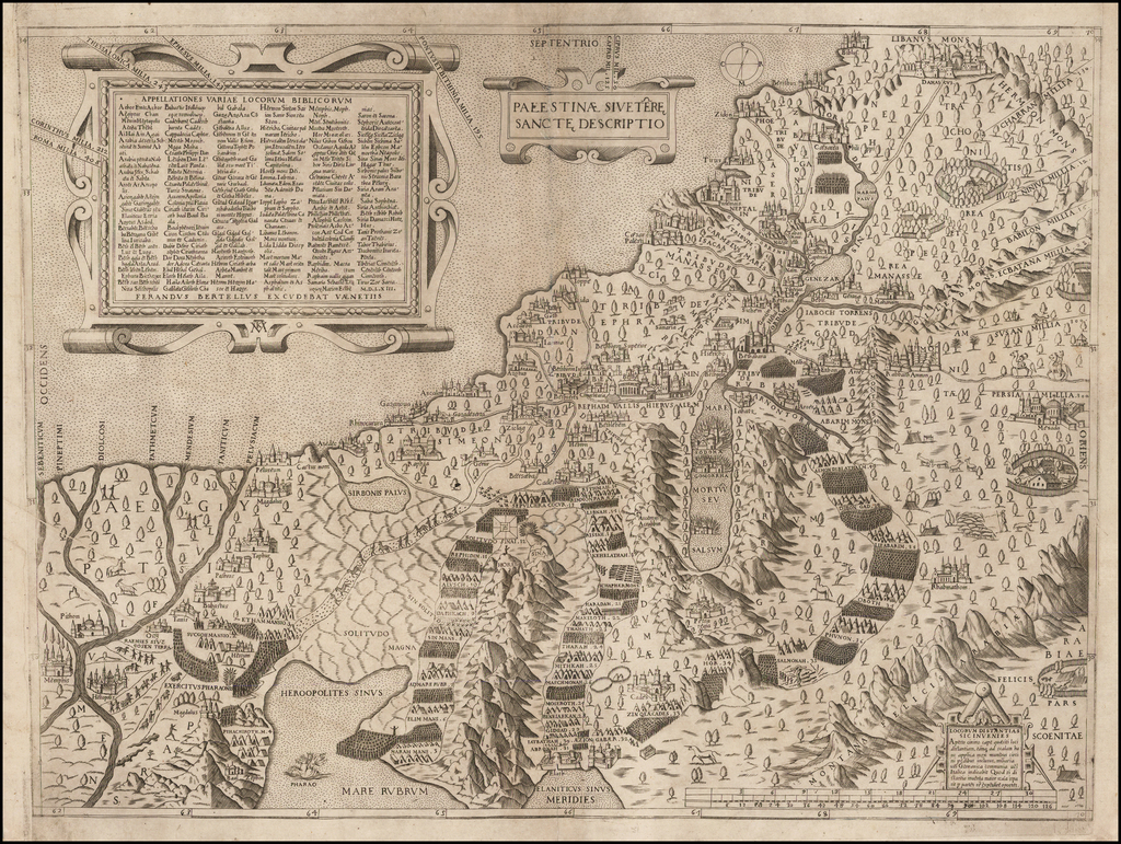 Palestinae Sive Terre Sancte Descriptio   By Ferrando Bertelli