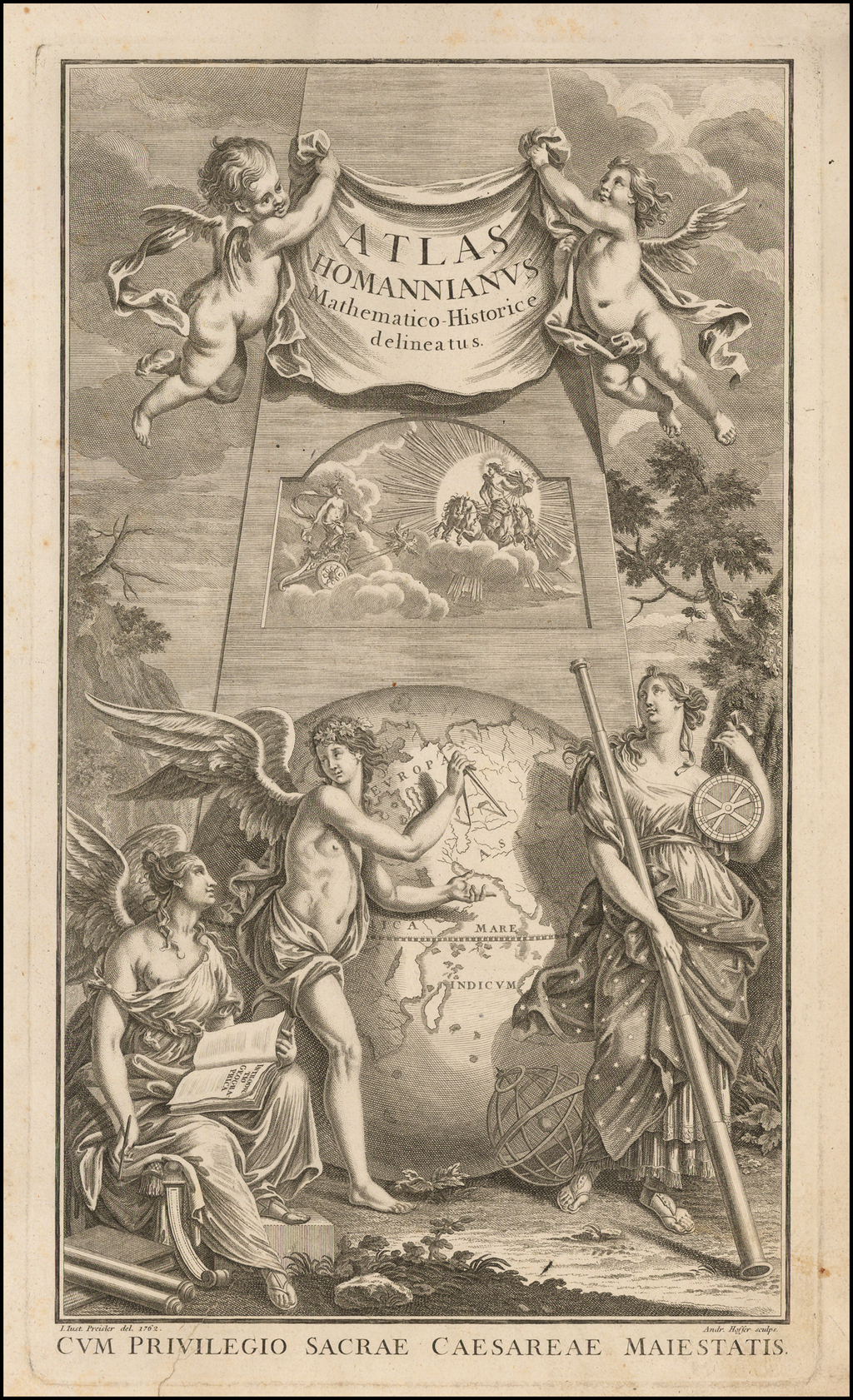 [Title Page] Atlas Homannianus Mathematico-Historice delineatus . . . 1762 By Homann Heirs