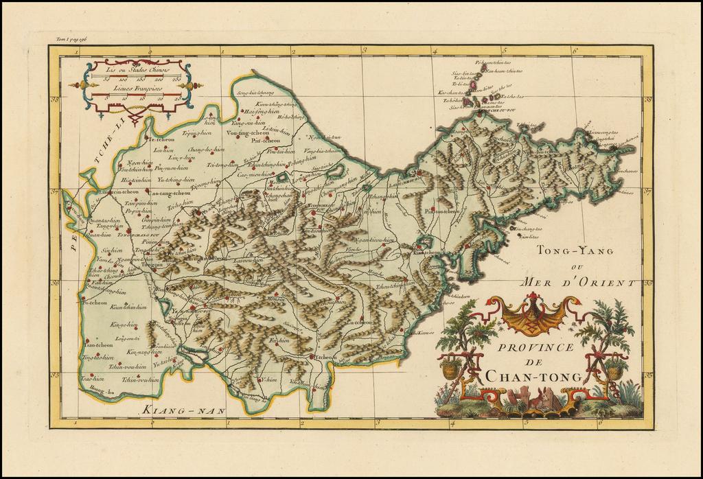 Province De Chan-Tong By Jean-Baptiste Bourguignon d'Anville