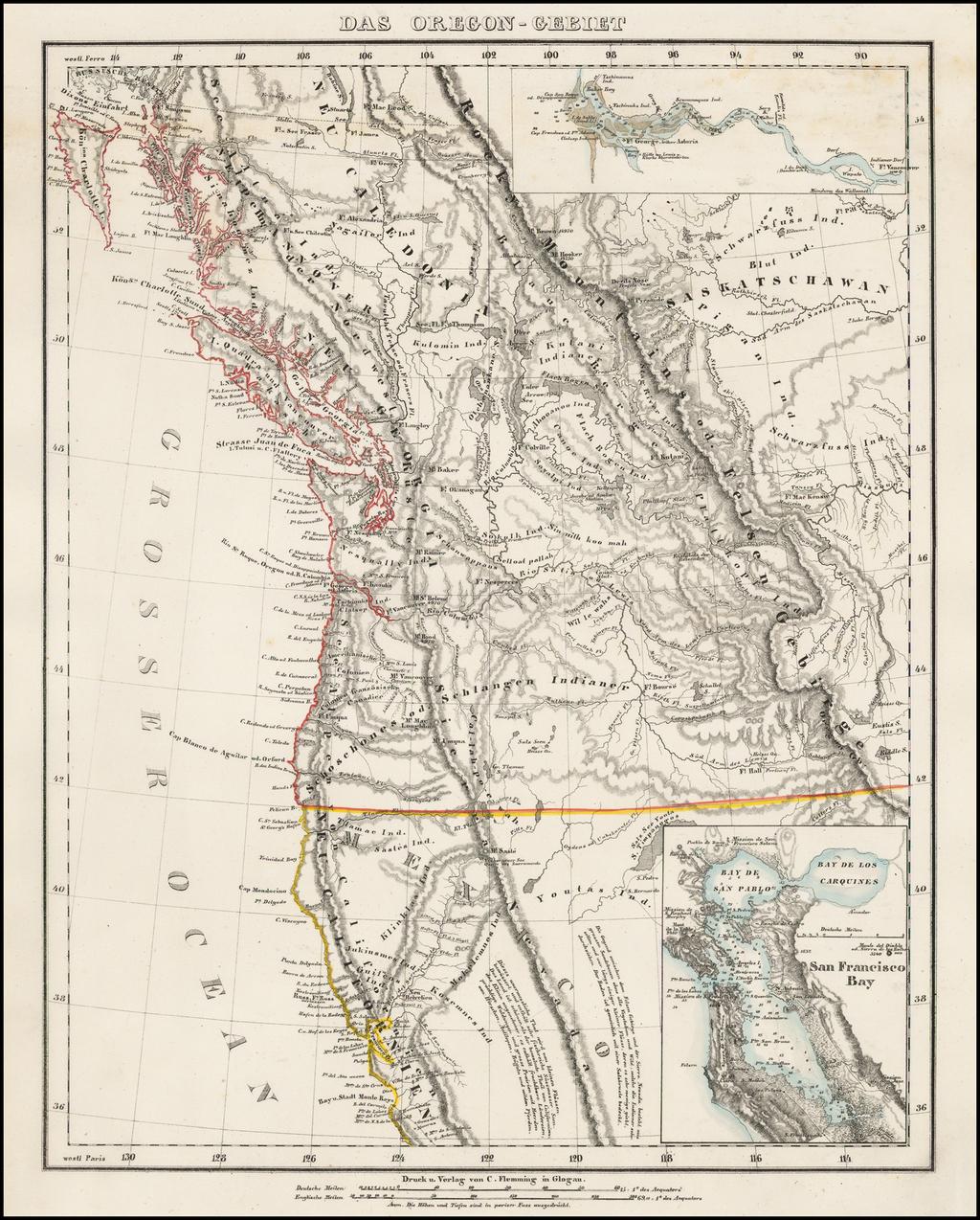 Das Oregon-Gebiet By Carl Flemming