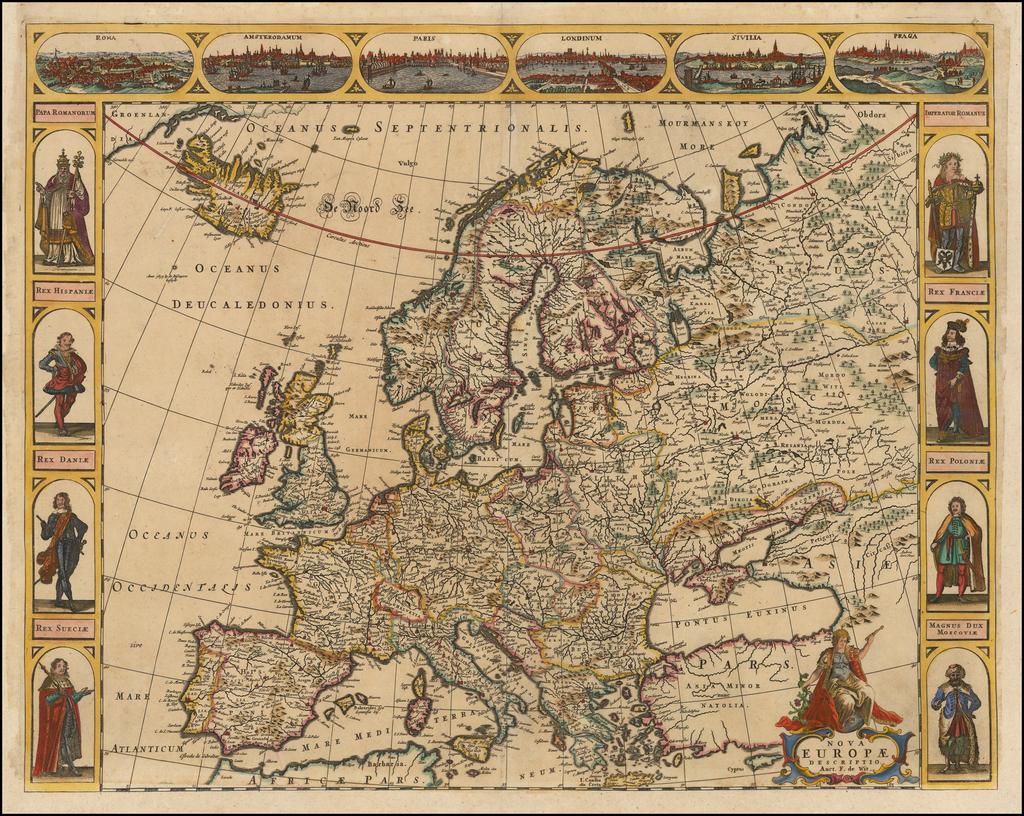 Nova Europae Descriptio . . .  By Frederick De Wit
