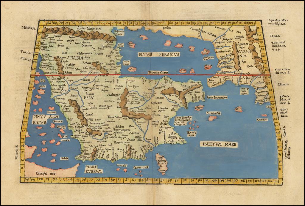 [Arabia] Tabula Sexta Asiae (Title on Verso) By Lorenz Fries