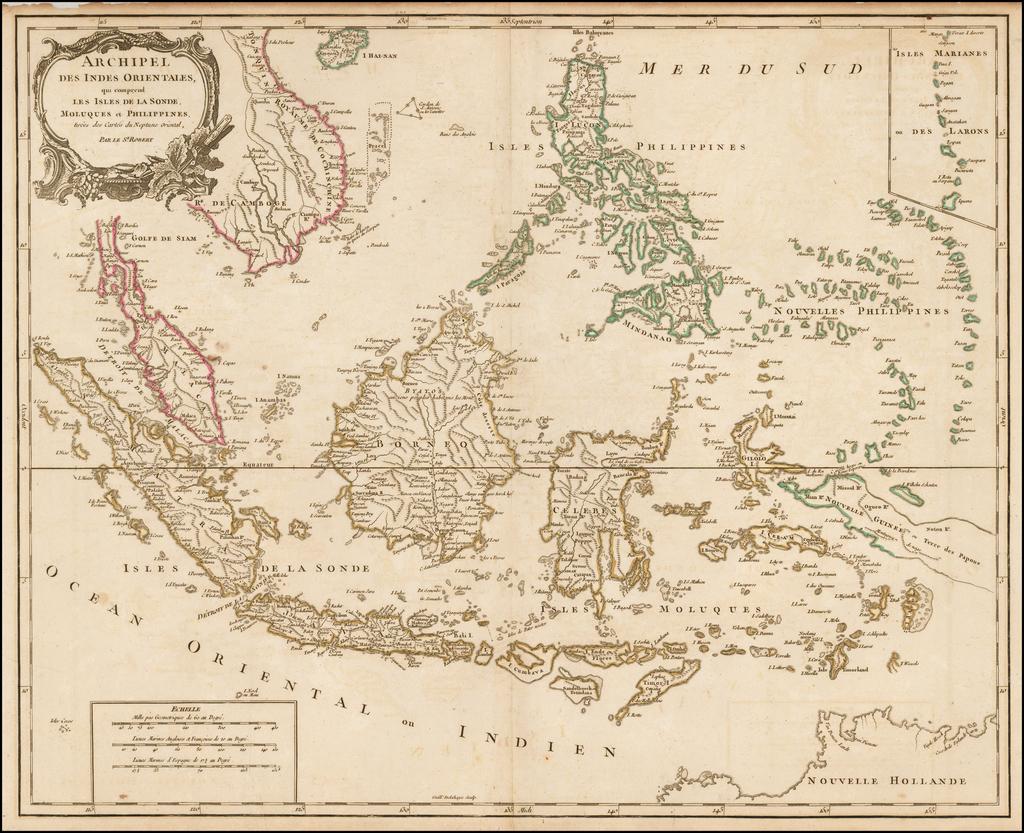 Archipel Des Indes Orientales, qui comprend Les Isles De La Sonde, Moluques et Philippines, tirees des Cartes du Neptune Oriental . . .  By Didier Robert de Vaugondy