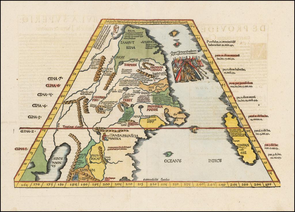 Ta. Superioris Indiae et Tartariae Maioris (Modern Map of China, Japan, etc. -- Title on Verso) By Lorenz Fries