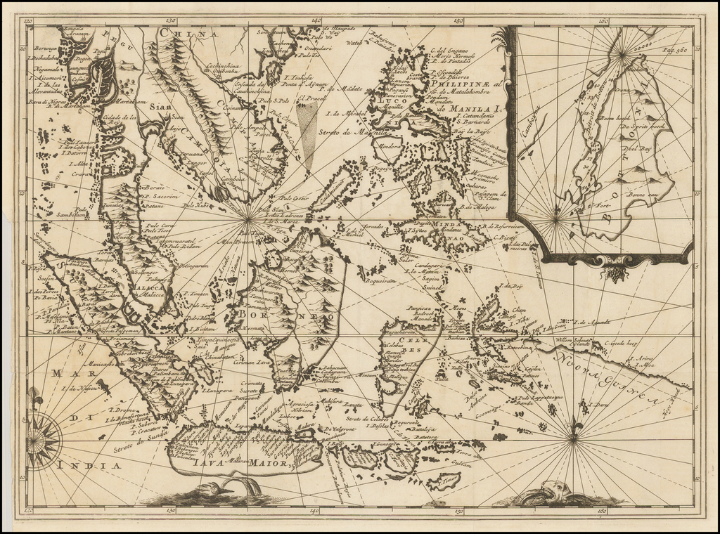 [Untitled Map of Southeast Asia & The Philippines] By Réne Augustin Constantin De Renneville