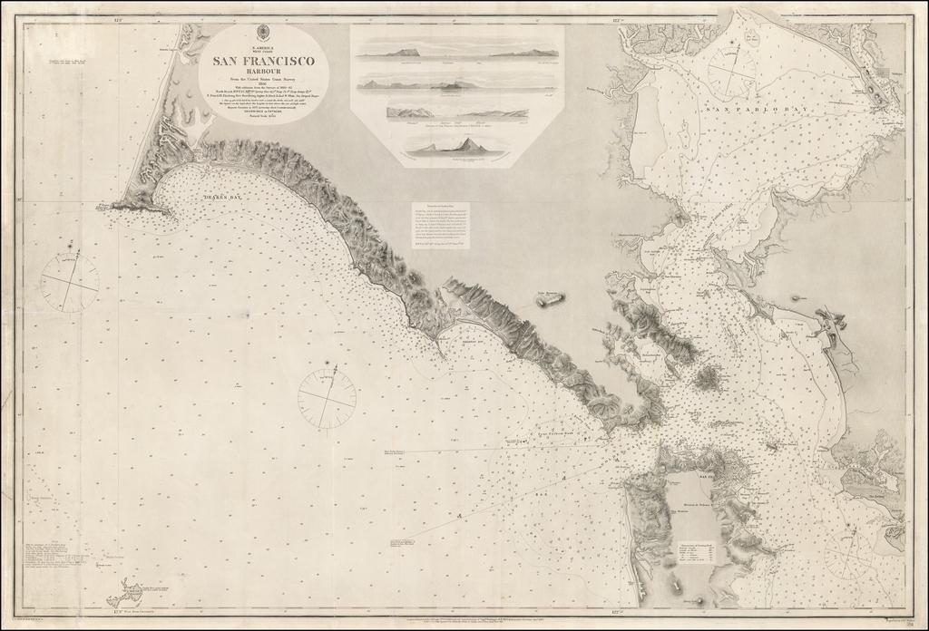 N. America  West Coast.  San Francisco Harbour  Surveyed by Lieut. James Alden U.S. Navy  1856 By J & C Walker / British Admiralty