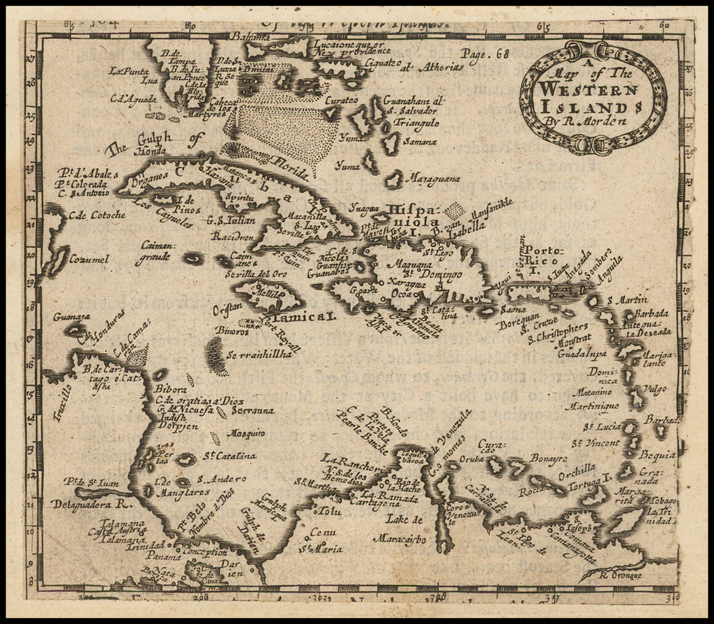 A Map of the Western Islands By Robert Morden