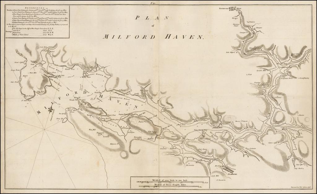Plan of Milford Haven. By Thomas Jefferys