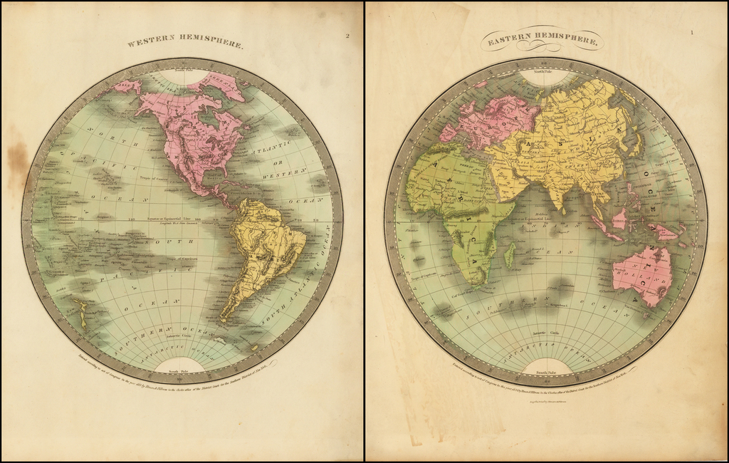 Western Hemisphere (and) Eastern Hemisphere By David Hugh Burr