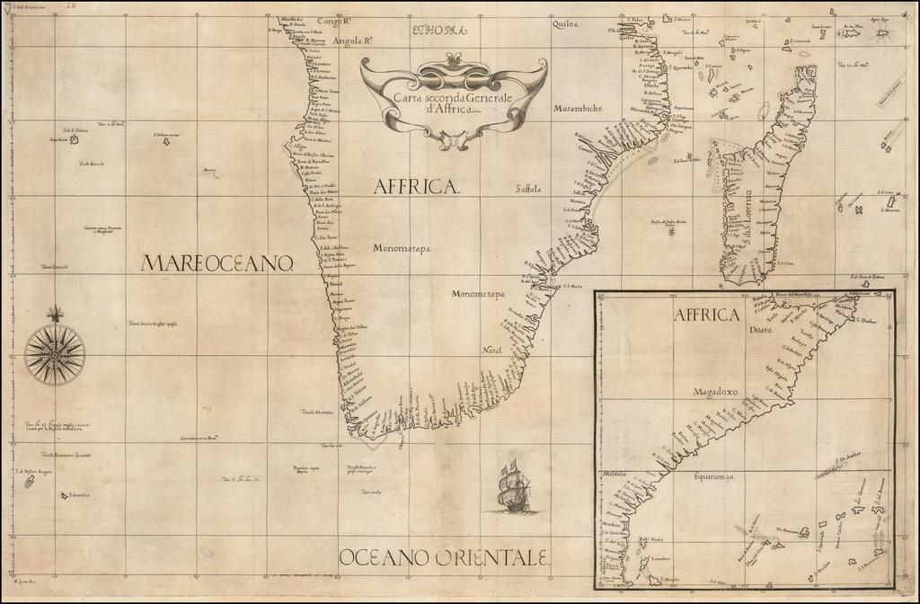 Carta seconda Generale d'Affrica. By Robert Dudley