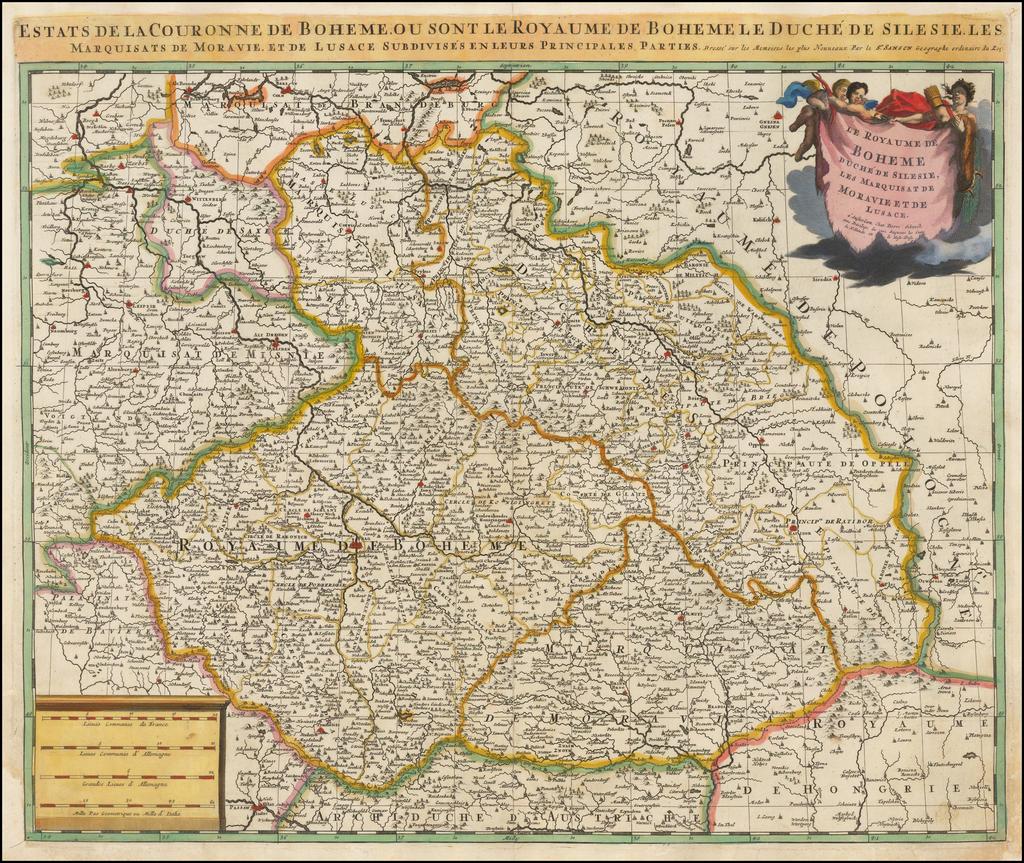 Le Royaume de Boheme Duche de Silesie Les Marquisat de Moravie et de Lusace. By Peter Schenk