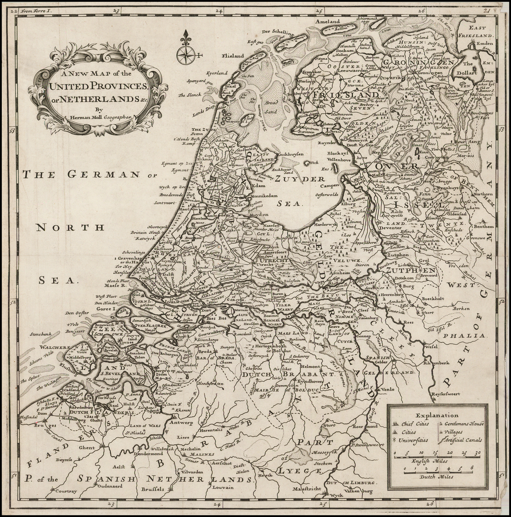 The United Provinces or Netherlands &c. . . .  By Herman Moll