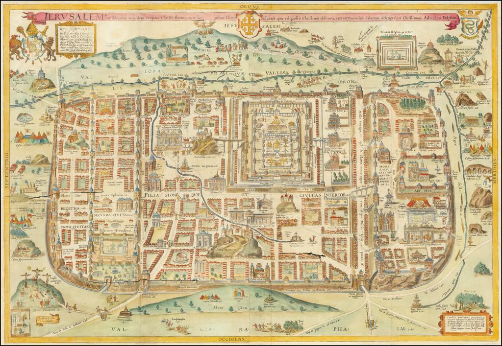 Ierusalem, et suburbia eius, sicut tempore Christi floruit...descripta per Christianum Adrichom Delphum By Christian van Adrichom