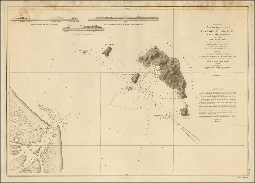 Mer de Chine Cote de Cochinchine Plan des Culao-Cham et de L'Entree de Fai-Fo. By F. Vidalin  &  G. Heraud