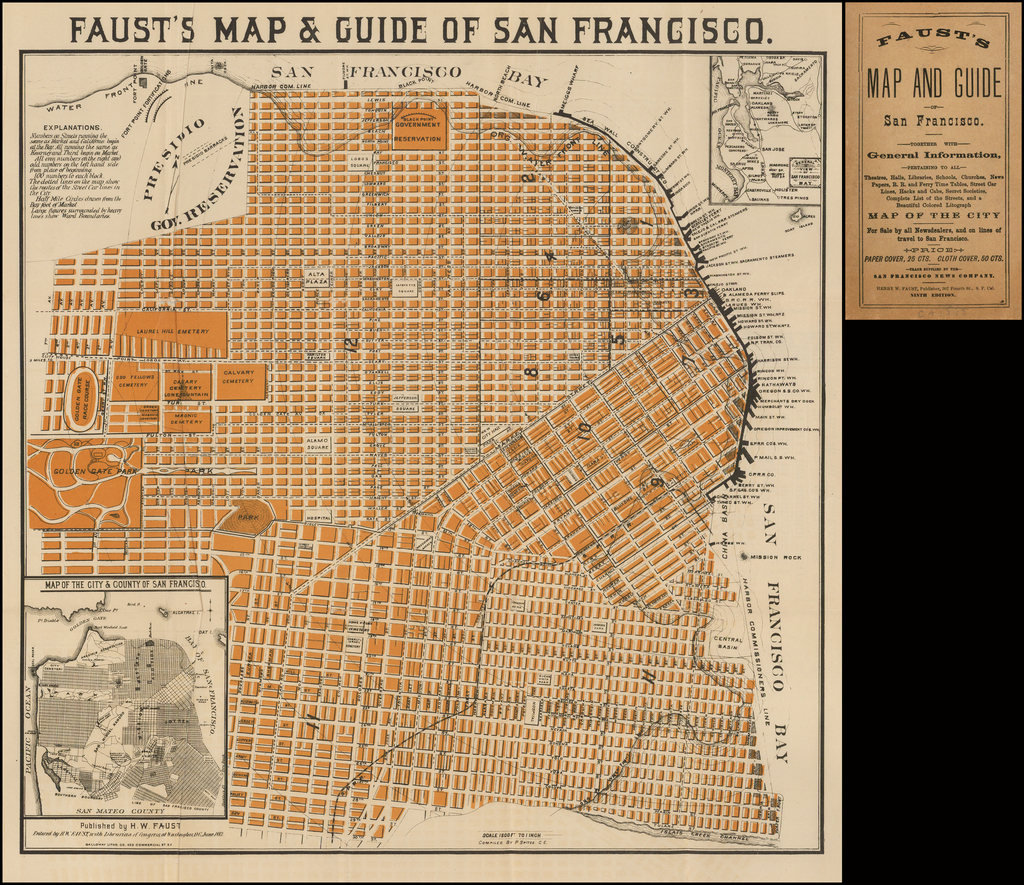 Faust's Map & Guide to San Francisco. By H.W.  Faust