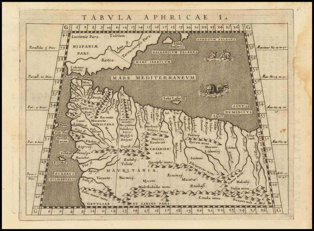 Tabula Aphricae I [Morocco & Tunisia] By Giovanni Antonio Magini