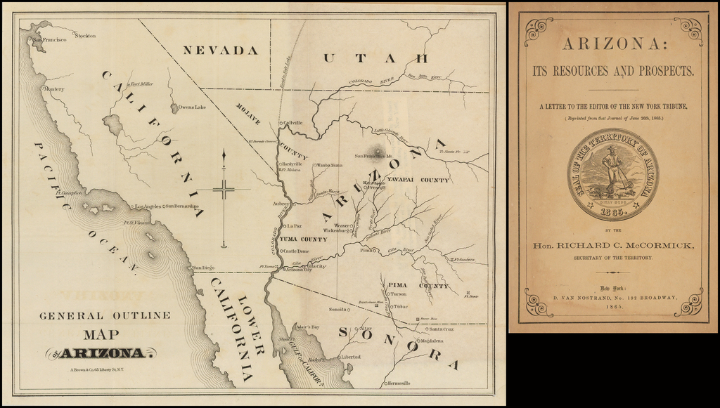Arizona: Its Resources and Prospects. By Richard McCormick